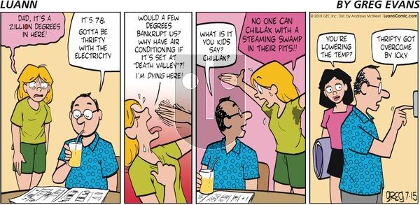 Luann on Sunday July 15, 2018 Comic Strip