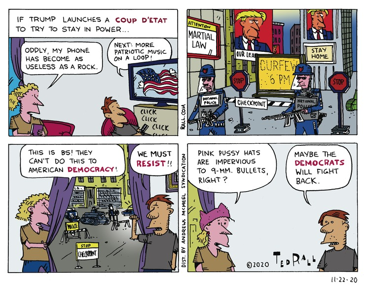 Ted Rall Comic Strip for November 22, 2020