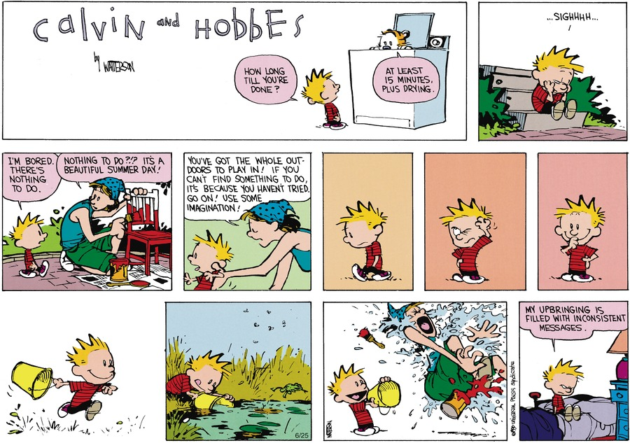 Calvin and Hobbes Comic Strip for August 12, 1990