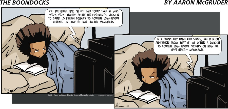 The Boondocks Comic Strip for February 08, 2004