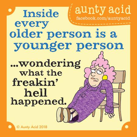 Aunty Acid Comic Strip for April 04, 2018