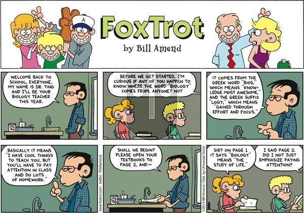 FoxTrot - Sunday August 24, 2014 Comic Strip