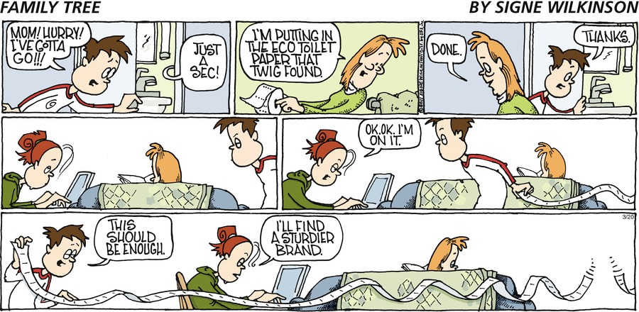 Family Tree Comic Strip for March 24, 2019