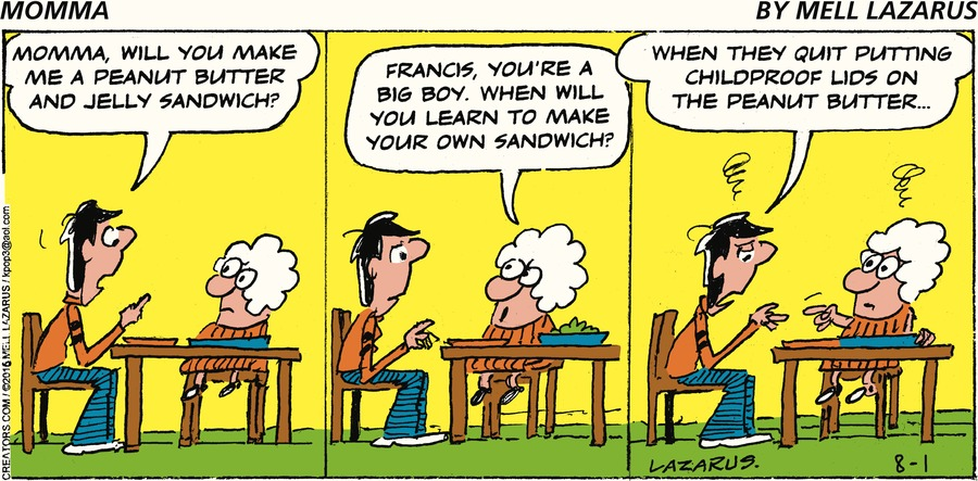 Momma Comic Strip for August 01, 2021