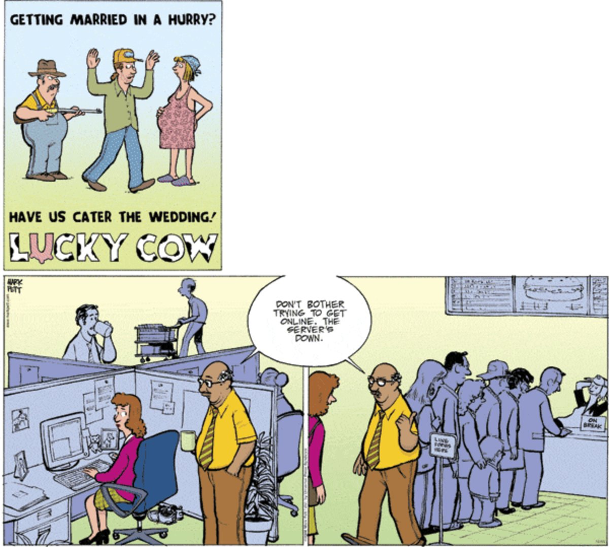 Lucky Cow for Oct 13, 2013 Comic Strip