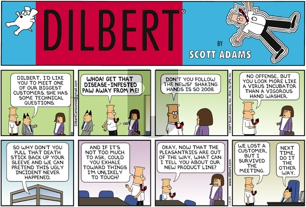 Dilbert on Sunday November 15, 2009 Comic Strip