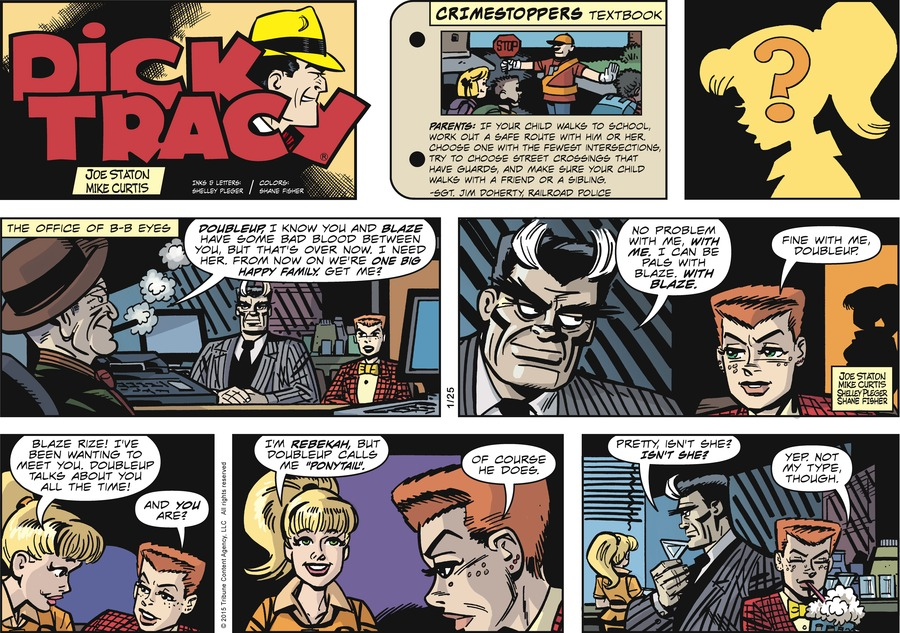 Dick Tracy Comic Strip for January 25, 2015
