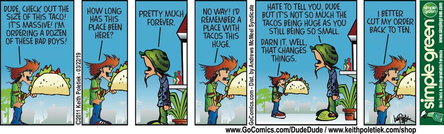 Dude and Dude Comic Strip for March 22, 2019