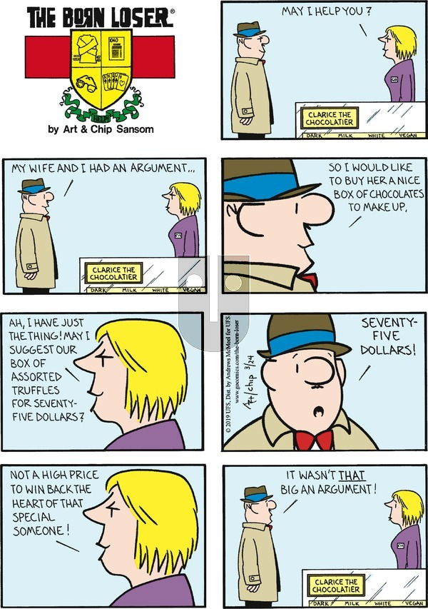 The Born Loser on Sunday March 24, 2019 Comic Strip