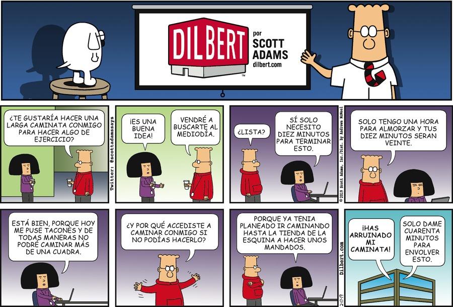 Dilbert en Español Comic Strip for February 17, 2019