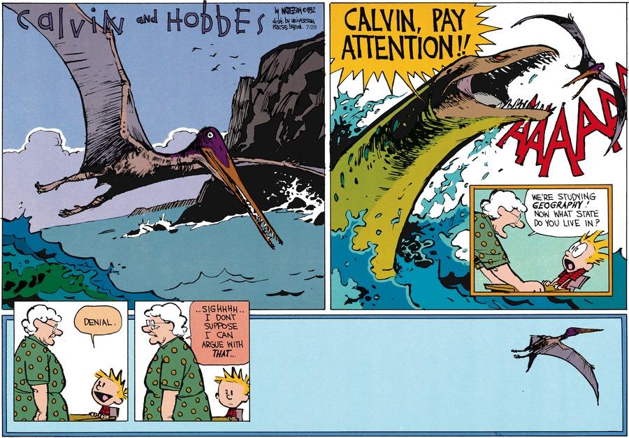 Calvin and Hobbes Comic Strip for September 13, 1992