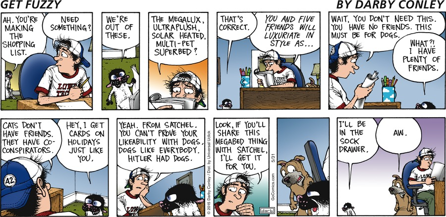 Get Fuzzy Comic Strip for May 31, 2015