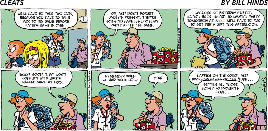 Cleats Comic Strip for October 17, 2004