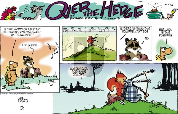 Over the Hedge on November 25, 2018 Comic Strip