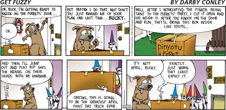 Get Fuzzy Comic Strip for June 08, 2014
