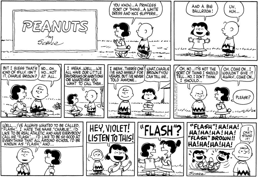 Peanuts Comic Strip for February 04, 1962