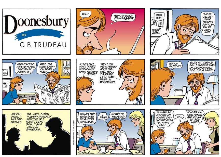 Doonesbury Comic Strip for October 20, 1996