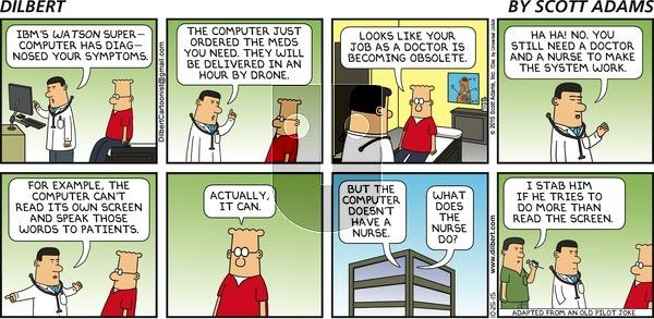 Dilbert on Sunday October 25, 2015 Comic Strip