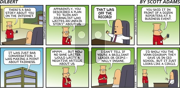 Dilbert on Sunday February 15, 2015 Comic Strip