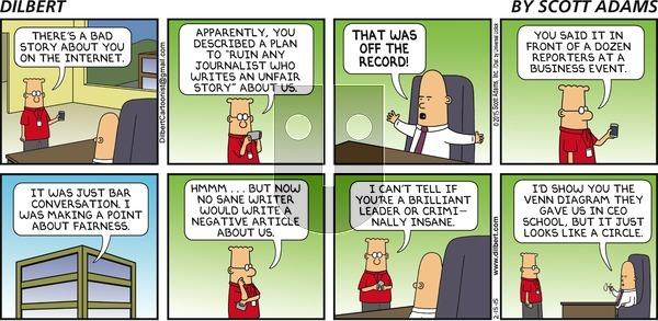 Dilbert on Sunday February 15, 2015 Comic Strip