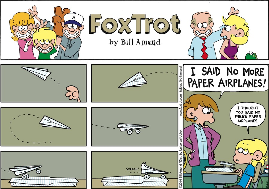 FoxTrot for Mar 30, 2014 Comic Strip
