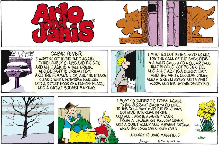 Arlo and Janis Comic Strip for February 11, 2001
