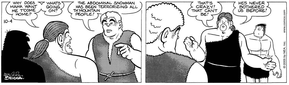 Alley Oop for Oct 4, 2005 Comic Strip