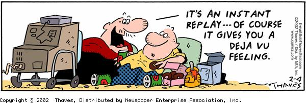 Frank and Ernest for Feb 4, 2002 Comic Strip