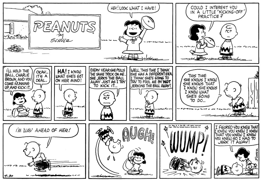 Peanuts for Sep 30, 1962 Comic Strip