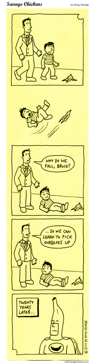Why do we fall, Bruce?