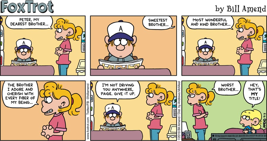 FoxTrot by Bill Amend for April 07, 2019