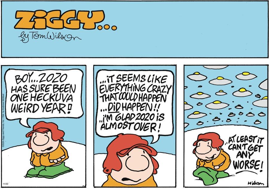 Ziggy Comic Strip for November 22, 2020
