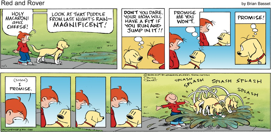 Red and Rover Comic Strip for November 01, 2020