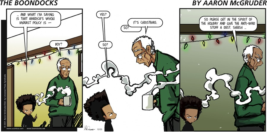 The Boondocks Comic Strip for December 23, 2001