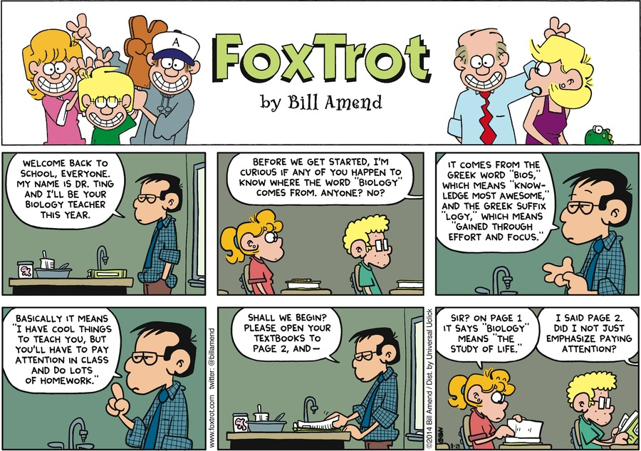 FoxTrot for Aug 24, 2014 Comic Strip