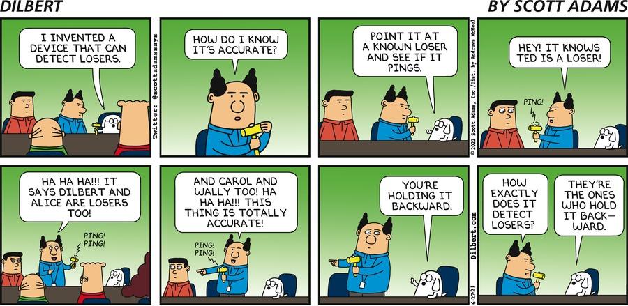 Loser Detector - Dilbert by Scott Adams