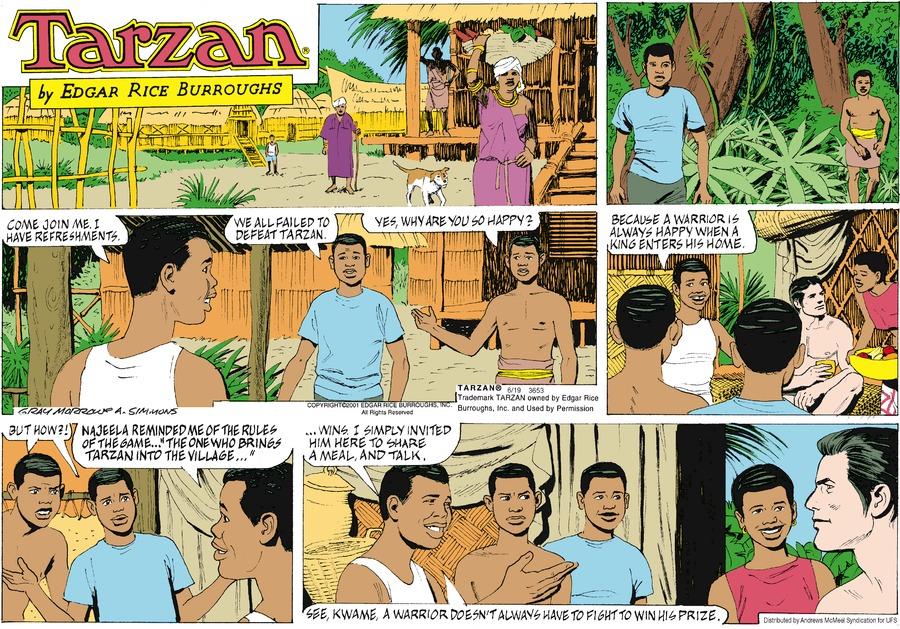 Tarzan Comic Strip for June 16, 2019