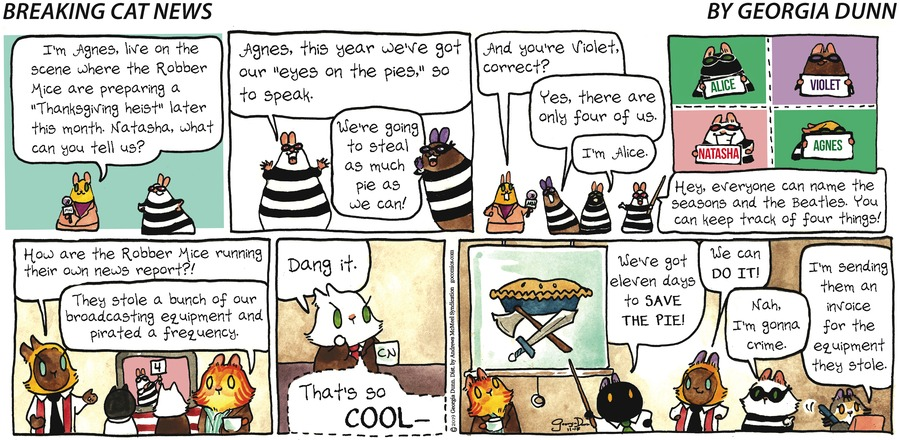 Breaking Cat News Comic Strip for November 17, 2019