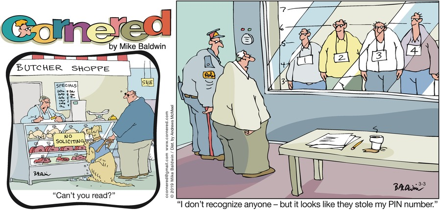 Cornered by Mike Baldwin for March 03, 2019