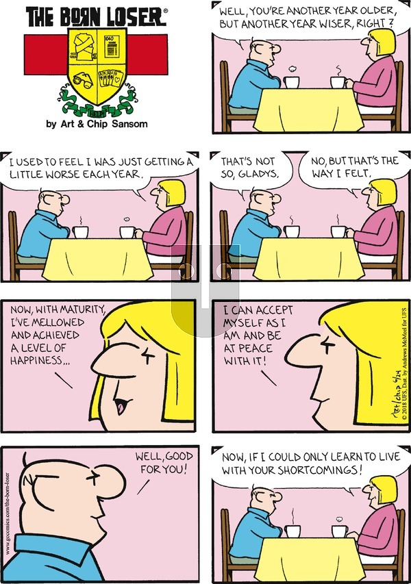 The Born Loser on Sunday June 24, 2018 Comic Strip