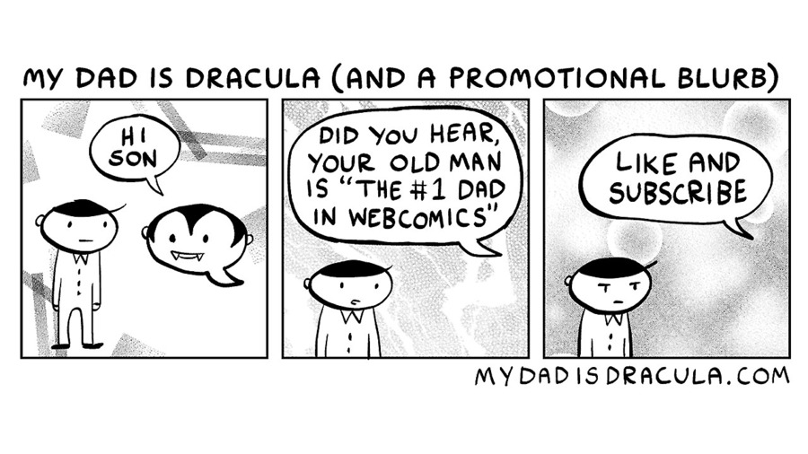 My Dad is Dracula Comic Strip for September 16, 2020