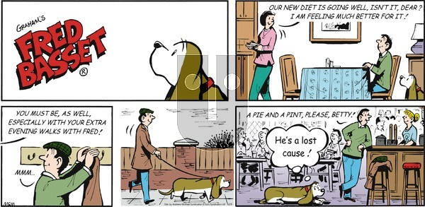 Fred Basset on Sunday February 9, 2020 Comic Strip
