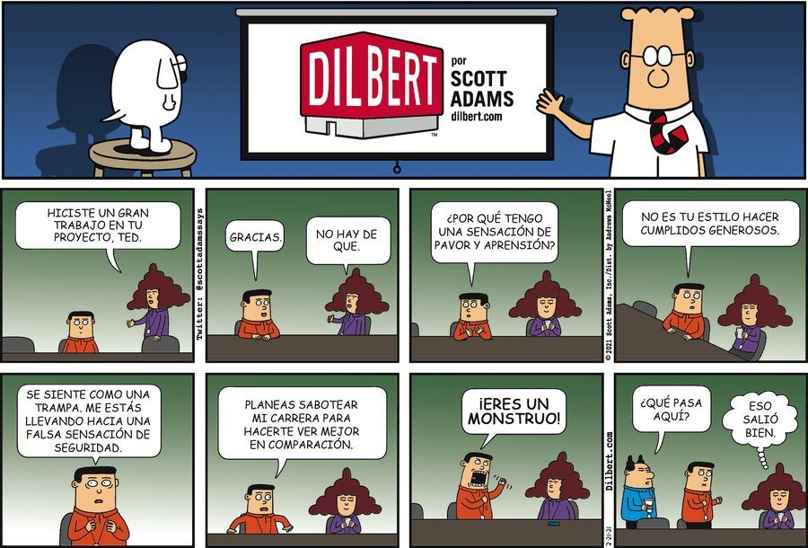 Dilbert en Español by Scott Adams on Sun, 21 Feb 2021
