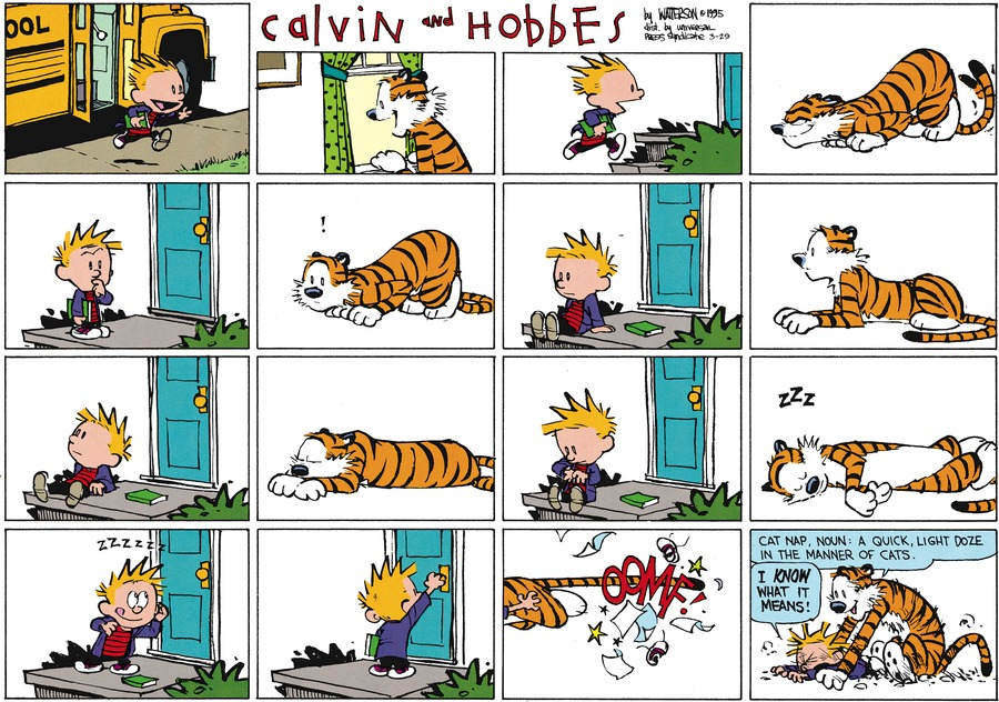 Calvin and Hobbes Comic Strip for March 29, 2015
