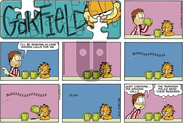Garfield on Sunday March 25, 2001 Comic Strip