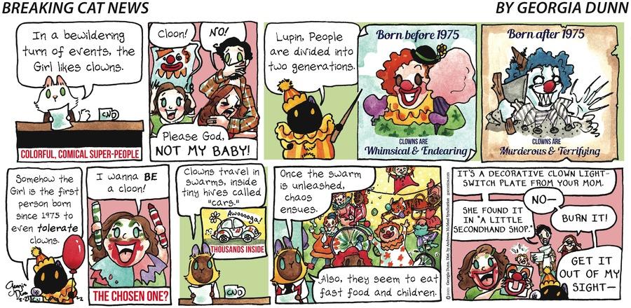 Breaking Cat News Comic Strip for February 21, 2021