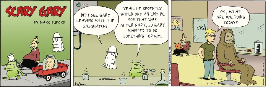 Scary Gary for Sep 24, 2017 Comic Strip