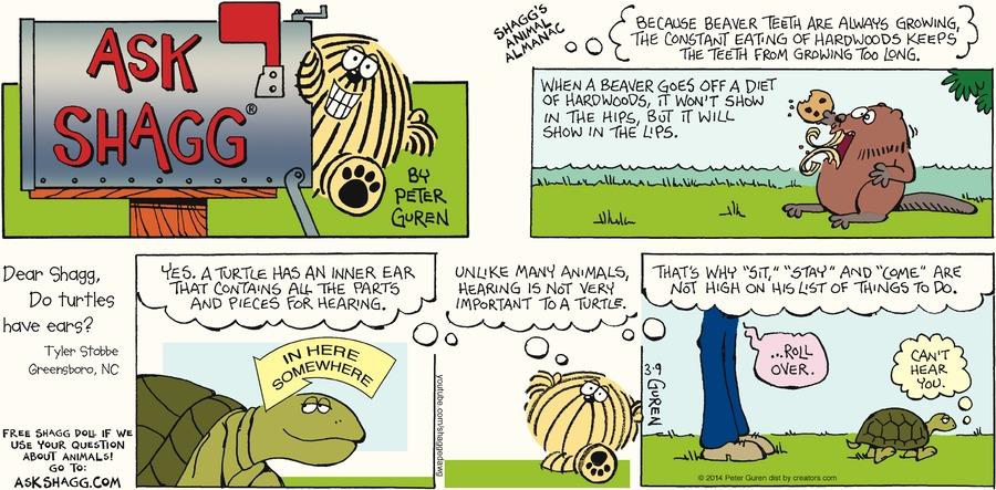 Ask Shagg for Mar 9, 2014 Comic Strip