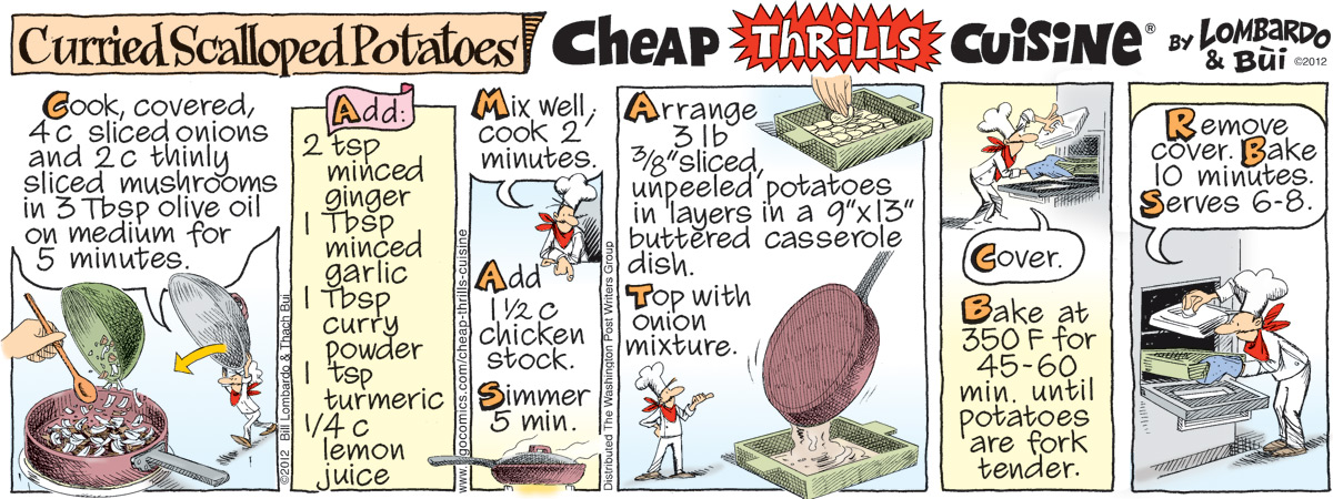 Cheap Thrills Cuisine Comic Strip for February 29, 2012