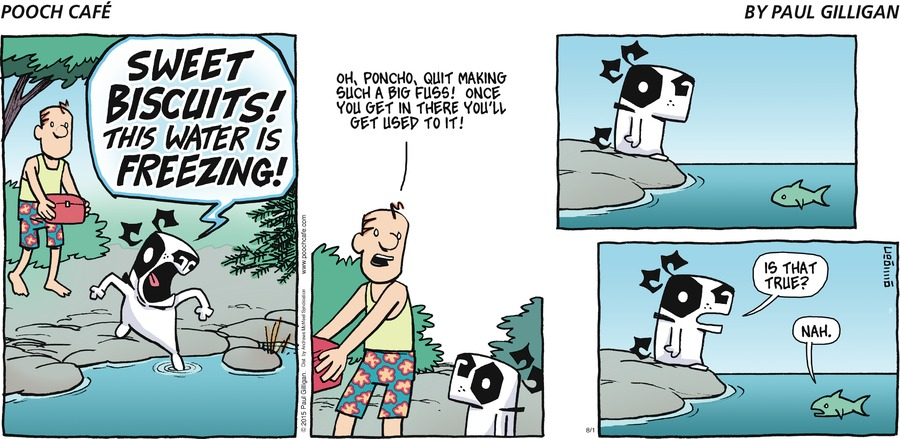 Pooch Cafe Comic Strip for August 01, 2021